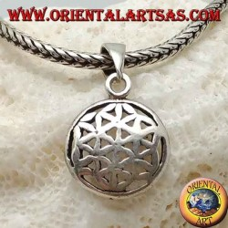 Silver pendant, flower of life (small)