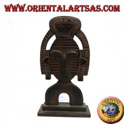 Scultura maschera da appoggio di una divinità Inca in legno di balsa da 45 cm