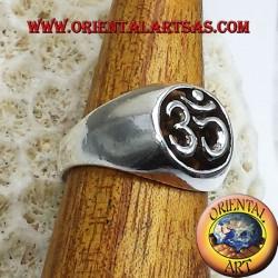 Anello OM argento traforato in argento