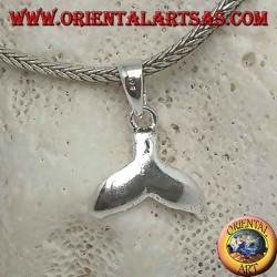 Серебряный кулон с китовым хвостом маленький кулон