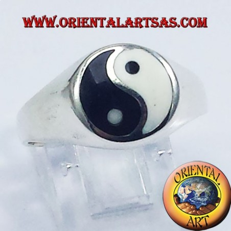 yin yang Tao silver ring