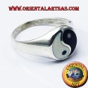 Anello yin yang Tao in argento