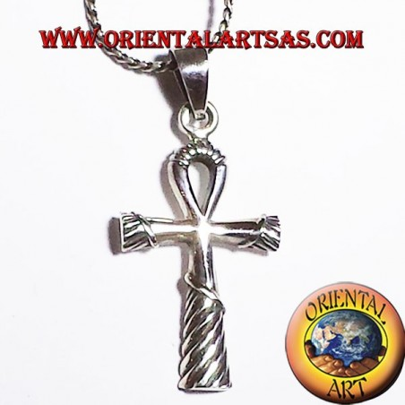Egyptian ankh cross pendant in silver