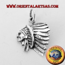 pendant head of Indian silver D'America