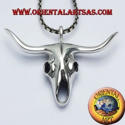 Ciondolo teschio di bufalo in argento