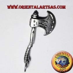 Medieval celta Axe Colgante de plata