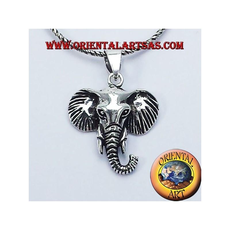 Tête d'éléphant pendentif en argent