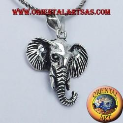 Ciondolo Testa di Elefante in argento