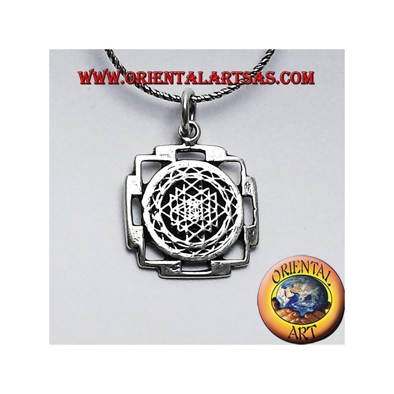 Sri yantra pendant in silver oriental art sas bari sri yantra pendant in silver aloadofball Image collections