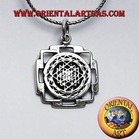 Sri Yantra pendant in silver