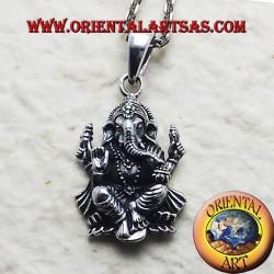 Wisiorek srebrny Ganesh lub Ganapati