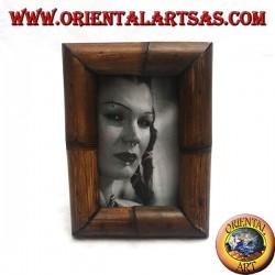 Cornice portafoto in legno di teak e bambù da 20x15 cm