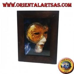 Cornice portafoto sottile in legno di teak da 23x18 cm