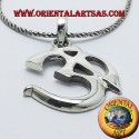 Pendant om And Sacred syllable Aum silver