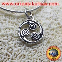 Ciondolo in argento Triskele rotante triskell triscele triskelion