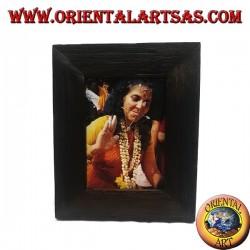 Antique teak wood photo frame 30 x 25 cm