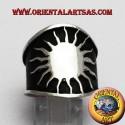 anello fascia larga sole in argento