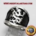 anello fascia larga grifone in argento