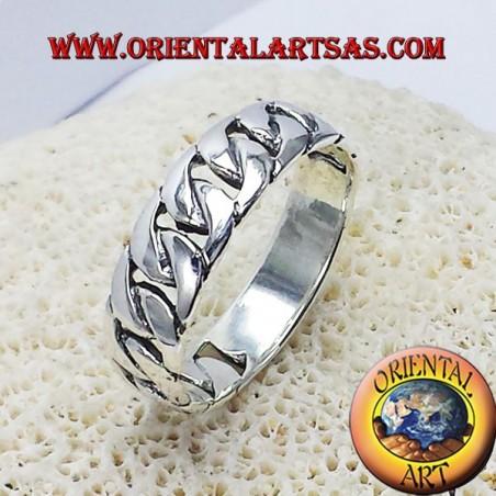 record rigid silver chain