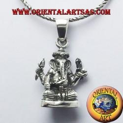 Ganesh Pendentif statue en argent
