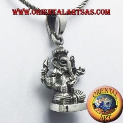 Ganesh colgante de plata de la estatua