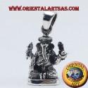 Ganesh statue pendant silver