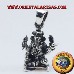 Ganesh Statue Anhänger Silber