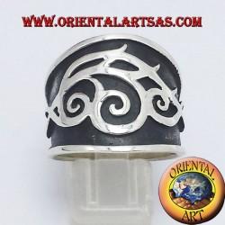 ring tribal belt silver