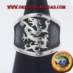 bande large anneau argent griffin