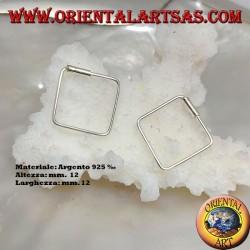 12 mm quadratische Silberdrahtohrringe