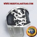 wide band ring silver griffin