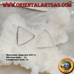10 x 10 mm triangle shaped silver wire earrings