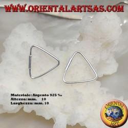 Boucles d'oreilles fil d'argent en forme de triangle 10 x 10 mm