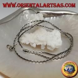 Collana catenina in argento 925 ‰ con maglia a snodo da 50 cm x 1,5 mm