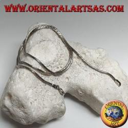 Collier chaîne en argent 925 argenté avec câble en diamant de 45 cm x 1,5 mm