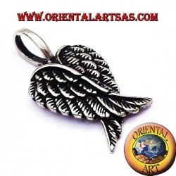 Pendentif paire d'ailes d'ange en argent