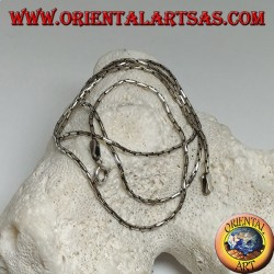 Chain necklace in 925 ‰ silver with articulated link 50 cm x 1.2 mm
