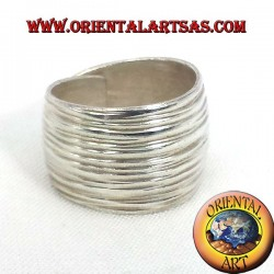 ring rounded fascia Karen rifled silver