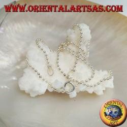 Collana catenina in argento 925 ‰ con maglia a palline medie da 50 cm x 1,8 mm