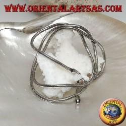 Collana in argento 925 ‰ con maglia snake da 45 cm x 2,5 mm