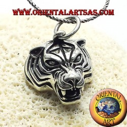 pendant head silver tiger