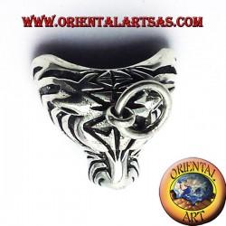 pendant head silver tiger