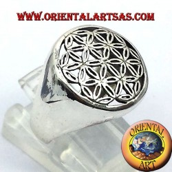 anello fiore della vita in argento 925