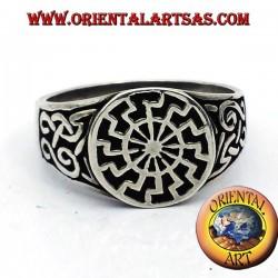 black sun ring seal silver
