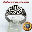 black sun ring seal silver