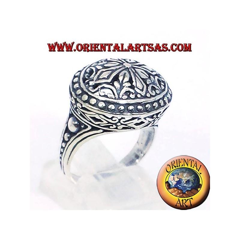 anello imperiale traforato in argento