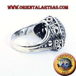 Imperial ring pierced silver