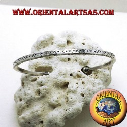 bracciale rigido fatto a mano in argento