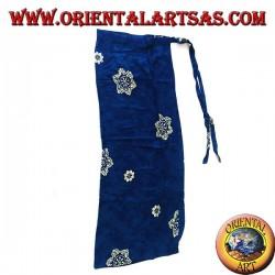 Blue sarong skirt with yellow flower designs