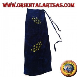 Blue sarong skirt with drawings of yellow bee swarms